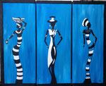 blue african ladies
