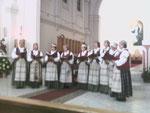 Литовский хор на концерте в кафедральном католическом соборе.