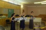 Трио флейт на конкурсном прослушивании