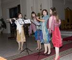 """Квартет флейт """"Арт-квадрат"""" на концерте в католическом кафедральном соборе"""
