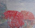 Mutation (Polystrolschnitt, Prägedruck, Collage auf Holz, 80 cm x 100 cm, 2010)