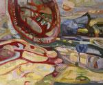 Reaktionen (Acrylmalerei auf Leinwand, 80 cm x 100 cm, 2010)