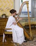 """""""DIE"""" Empire-robe: feinste Gaze zu einem Kleid im griechischen Stil verarbeitet"""