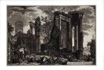 『ローマの景観』から、「ティヴォリのシビラ神殿」(表)