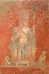 玉座に座るディオニュソス
