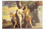 息子アンテロスをユピテルに示すヴィーナスとメルクリウス