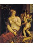 化粧するヴィーナスと二人のキューピッド