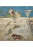 ディオニュソス信仰に関連がある物事を表した壁画