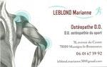 Ostéopathe - Marianne Leblond