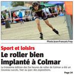 25/08/2014 - L'Alsace - Une du Livret Régional