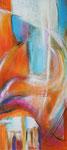 Fantasie der Elemente 2 | 50 x 100 cm | Mischtechnik auf Leinwand | 2014