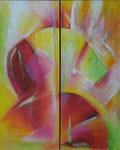 Stufensymphonie | je 60 x 150 cm | Acryl auf Leinwand | 2008