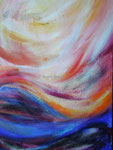 Die Himmel erzählen | 70 x 100 cm | Mischtechnik auf Leinwand | 2005
