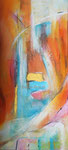 Fantasie der Elemente 1 | 50 x 100 cm | Mischtechnik auf Leinwand | 2014