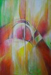 Farbenweg | je 50 x 150 cm | Eitempera auf Leinwald | 2003