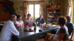 Célia, une des filles de la maison, qui a concouru à Sotchi, est venue nous voir