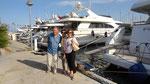 Visite de l'immense port d'Hyères