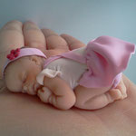 bomboniere battesimo fimo neonato