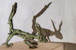Eichhörnchen,Bronze mit Schattenebene