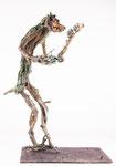 Fuchswaldgott, Bronze, patiniert