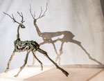 Hirsch,Bronze mit Schattenebene