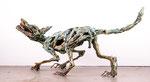 Wolf, Zerberus, Bronze patiniert