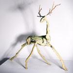 Hirsch,Bronze hell patiniert
