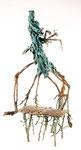 Mänadenzug, Insekten Anna Selbdritt, im Gewand, Bronze, patiniert, teilweise bemalt