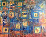 Golden Squares 150 x 120