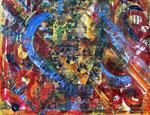 Blue Heart. 150 x120