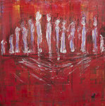 People together 100 x 100cm