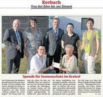 """Spende für Sonnenschutz im """"Kreisel"""" - HNA 18.08."""