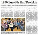 1950 € für fünf Projekte - WLZ 02.11.2012