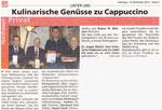 Kulinarische Genüsse zu Cappuccino - Eder Diemel Tipp 08.12.12