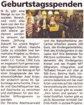 Geburtstagsspenden - Eder Diemel Tipp 03.11.2012