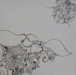 sans titre, stylo, transfert, sur toile, 40 x 40 cm CHF 400.-
