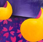 Purple rain, huile sur toile 50 x 50 cm sfr. 870.-