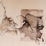 sans titre - 2011 - gravure, stylo sur toile 30 x 30 cm CHF 450.-
