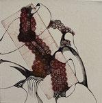 sans titre, gravure, stylo sur toile, 30 x 30 cm CHF 450.-