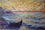 Öl auf Jute, 80 x 60 cm, nach Nolde