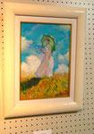 「日傘の女」摸写画 size F4