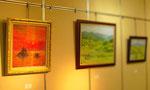 【第10回洋画グループ展】2010年12月1日~12月6日  作品数 約50点/日の出 size F10 ※画像掲載の了解を得ておりませんので、メンバー様の作品は、ぼかしてUPさせて頂きます。