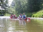 Auf der Altmühl paddelten wir in ruhigem Fahrwasser. Einzig die Bremsen (Stechmücken) brachten uns gelegentlich aus der Ruhe.