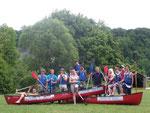 Ob an den Kalksteinfelsen oder auf der Altmühl im Kanu – überall fühlten sich die Teilnehmer des Klettercamps wohl.