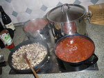 Pilzragout und Sauce Bolognese vom Küchenchef Rieder zubereitet. Nicht nur das Klettern hält Leib und Seele zusammen.