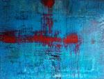 """""""Red Line"""" 80 x 60 x3,9 cm, Acryl auf Leinwand"""