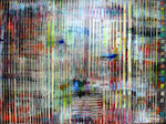 """Underground II"" 160 x 120 x 4 cm, Acryl/Ölstift auf Leinwand"