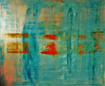 """RedDot"" 170x140x2cm/Acryl auf Leinwand"