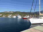 Fischer und Yachthafen auf Thassos, Griechenland