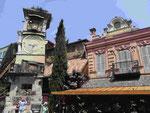 Schiefer Turm der Puppenbühne von Tiflis, Georgien